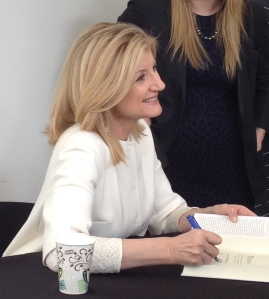 Arianna Huffington at book signing in San Francisco (photo credit: AM Etcheverria)